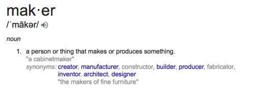google definition - maker