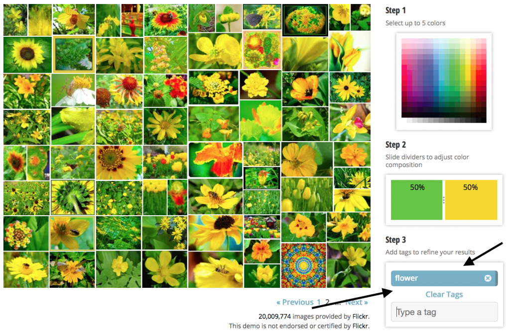 Green and yellow flower, Tineye image search, MulticolorEngine