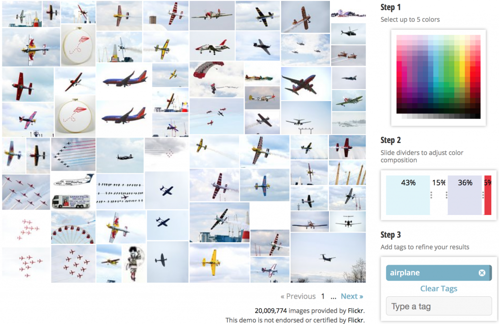 color search, airplane