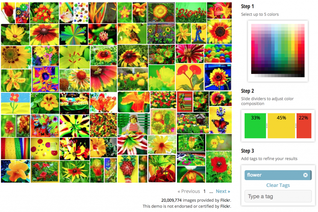 search by color, Tineye image search, MulticolorEngine