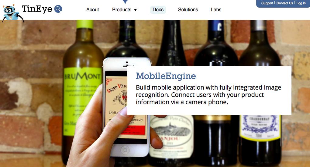 Mobile Image Recognition TinEye