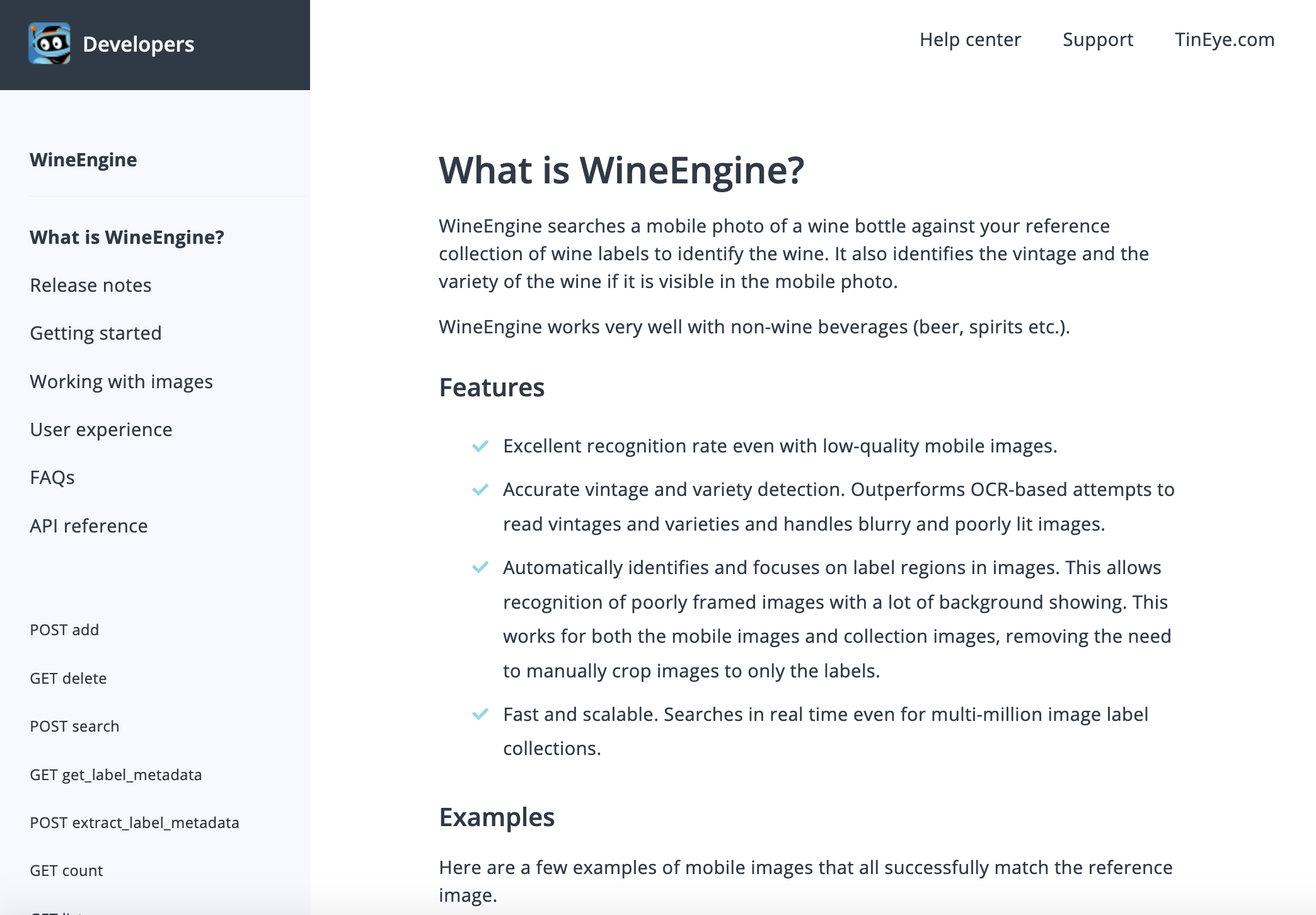 WineEngine API documentation